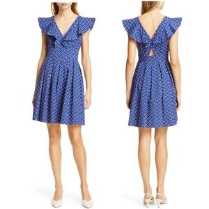 kate spade geo poplin dress